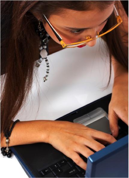 business woman working hard